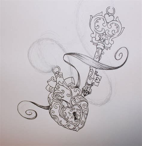 vintage heart tattoo designs vintage key www imgkid the image kid