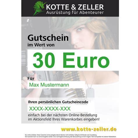 Kotte Zeller Gutschein by Geschenkgutschein 30 Euro Kotte Zeller