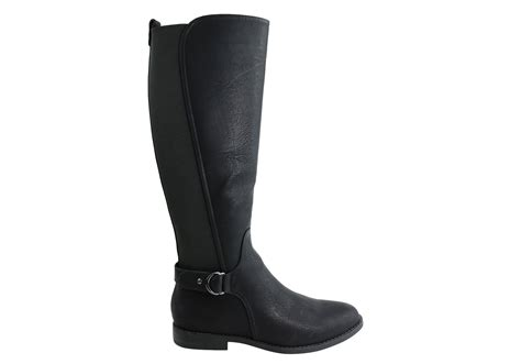 wide calf comfort boots bellissimo rebel womens comfort flat knee high wide calf