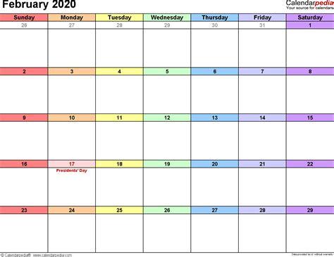 february  calendar templates  word excel