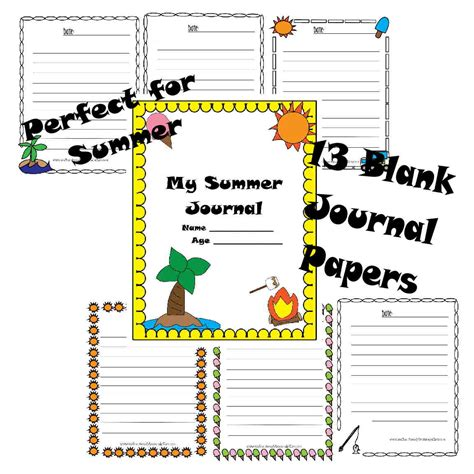 printable summer journal pages free summer journal printable pack and summer to do list