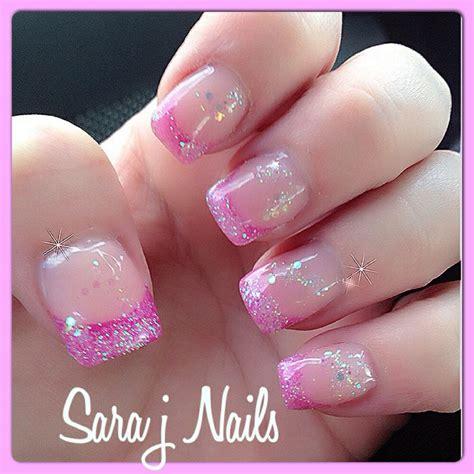 pink glitter acrylic nail designs pretty pink glitter acrylic nail design nails by me