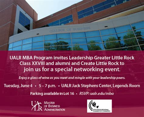 Ualr Mba Schedule by Special Networking Event Master In Business