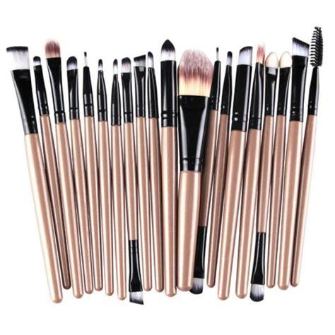 Diskon Kuas Fashionable Make Up Tools fashion 20 pcs makeup brush set tools make up toiletry kit wool make up brush set