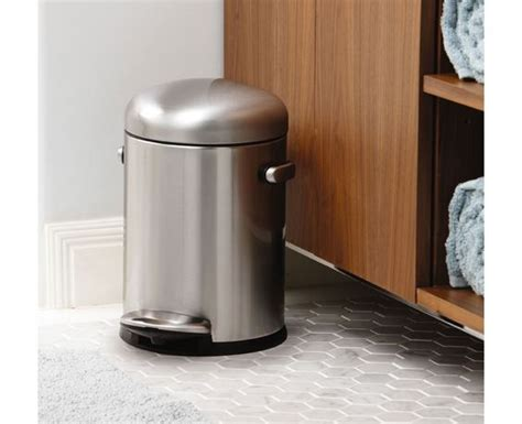 simplehuman bathroom trash can simplehuman 4 5l stainless steel small step trash can