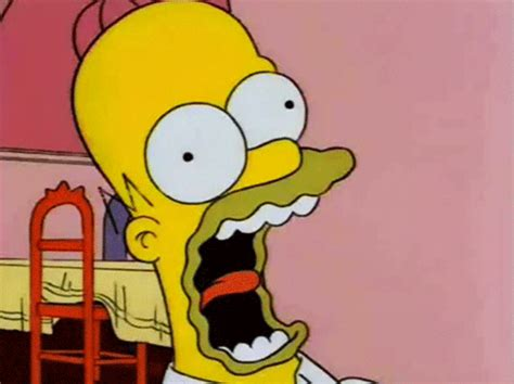 imagenes groseras animadas scared homer simpson gif by hoppip find share on giphy