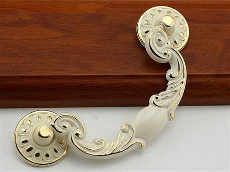 french gold cabinet hardware 3 75 quot shabby chic swing dresser drawer pulls handles white