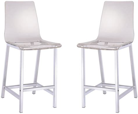 Clear Bar Stools 29 Quot Clear Bar Stool Set Of 2 From Coaster 100265