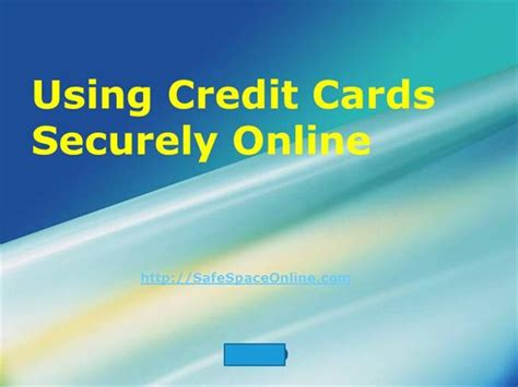 Using A Mastercard Gift Card Online - using credit cards securely online authorstream