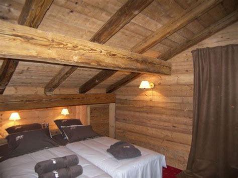 cottage montagna chambre vieux bois dormitoris chalet interior chalet