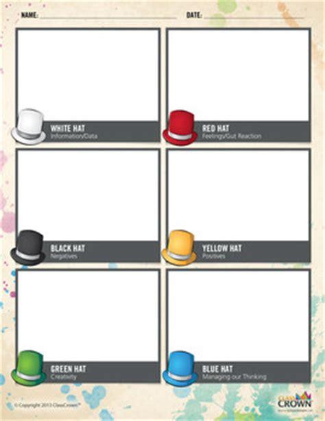 de bono s 6 thinking hats w by classcrown teachers