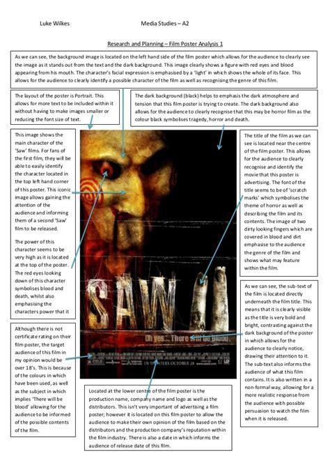 horror film questionnaire media horror film poster analysis