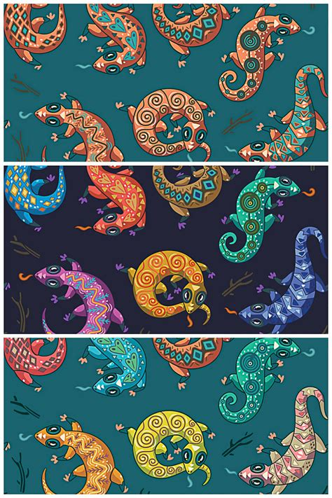 ethnic pattern vector free download ethnic geckos pattern vector free download