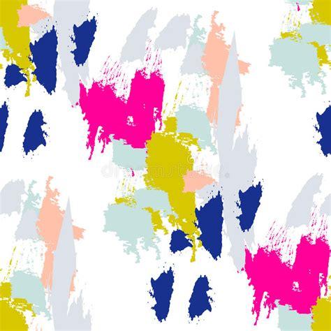 svg pattern stroke acrylic paint brush stroke seamless pattern stock vector