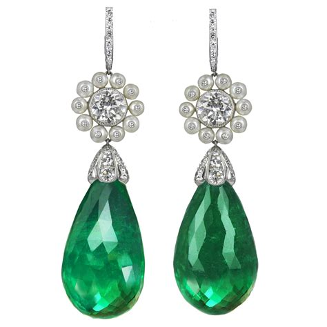 emerald drop earrings jewelry