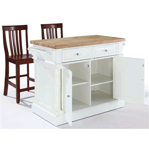 white kitchen island with butcher block top crosley oxford butcher block top kitchen island with