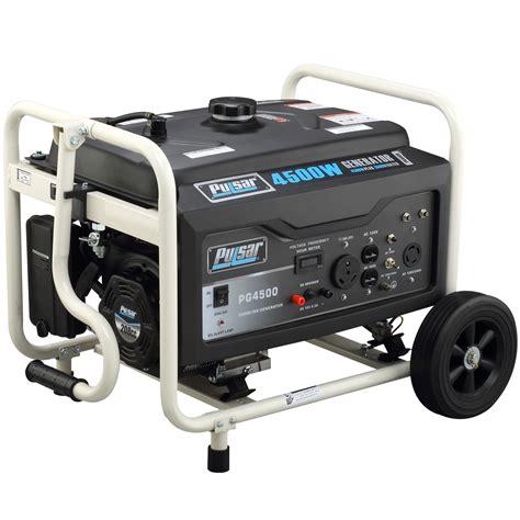 pulsar pg4500 4500w portable generator