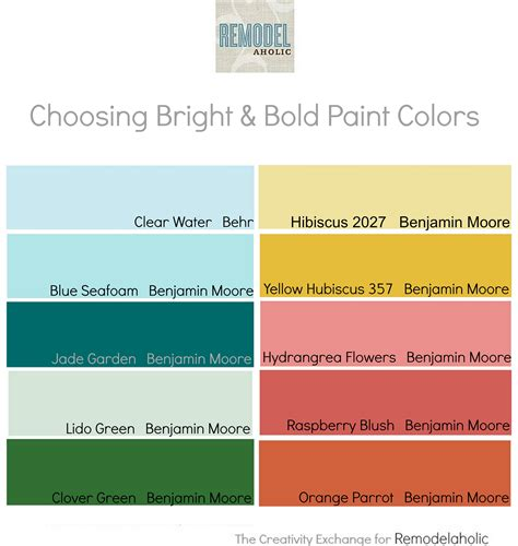 remodelaholic tips for using and choosing bold and bright paint colors