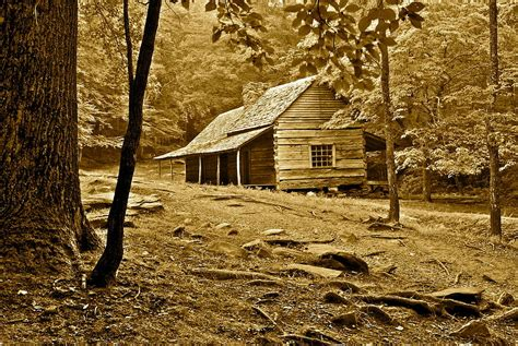 Frozen Cabin by Smoky Mountain Cabin Photograph By Frozen In Time Photography