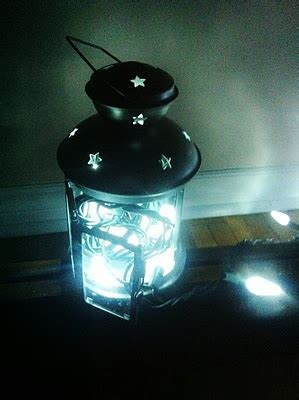 ikea tea light battery lights in a tea light lantern could be a nifty thing with