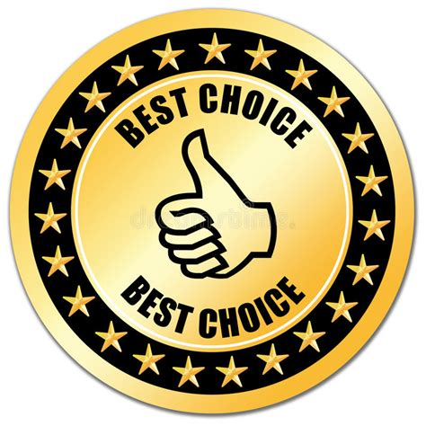 best choise best choice guarantee stock illustration illustration of