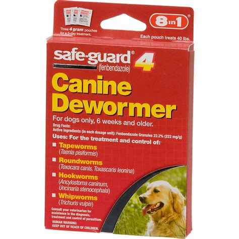 puppy dewormer petco 8 in 1 safe guard 4 canine dewormer petco