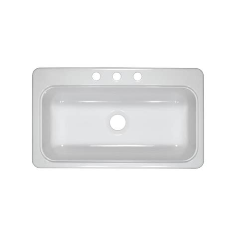 acrylic undermount kitchen sinks shop lyons style sb white single basin acrylic kitchen