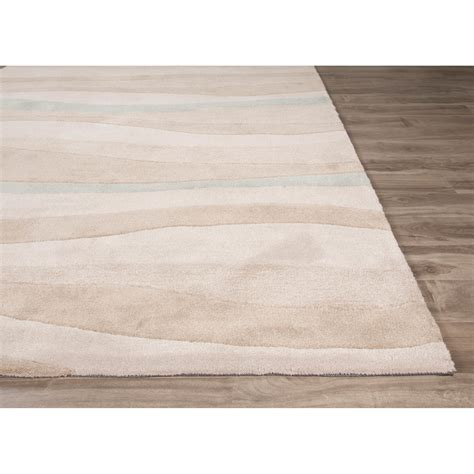 area rugs jaipurliving coastal tides hand tufted beige blue area rug