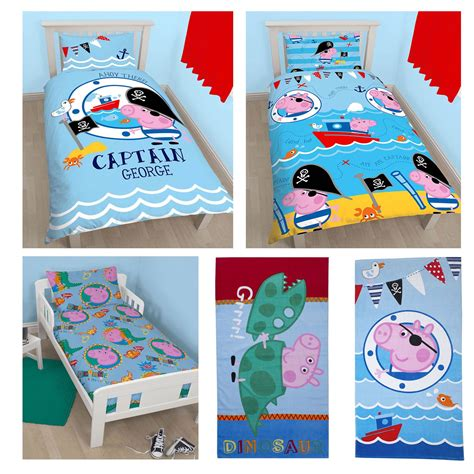Peppa Pig Room Decor by Official Peppa Pig George Bedding Duvet Cover Sets Room
