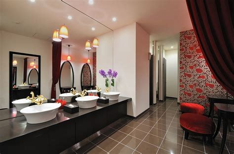 Red and black bathroom peenmedia com