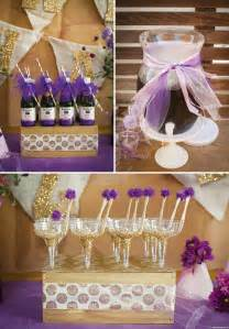 Purple And Gold Birthday Decorations by Groovy Glitzy Quot Purple Quot Birthday