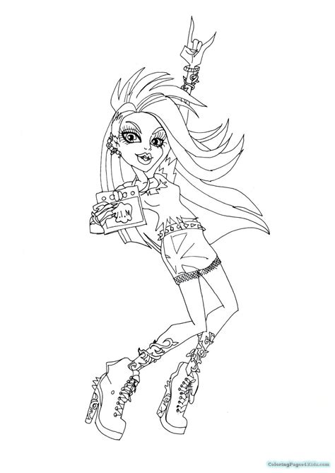 coloring page for venus monster high coloring pages venus mcflytrap coloring