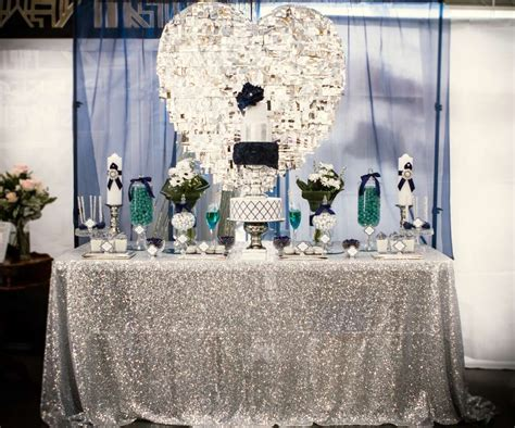 blue and silver theme blue white silver and plenty of shine wedding ideas photo 1 of 11 catch my