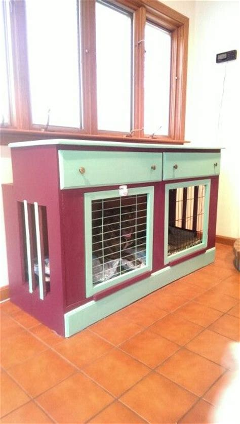 dog crate made out of dresser wood dog crate white woodworking projects plans