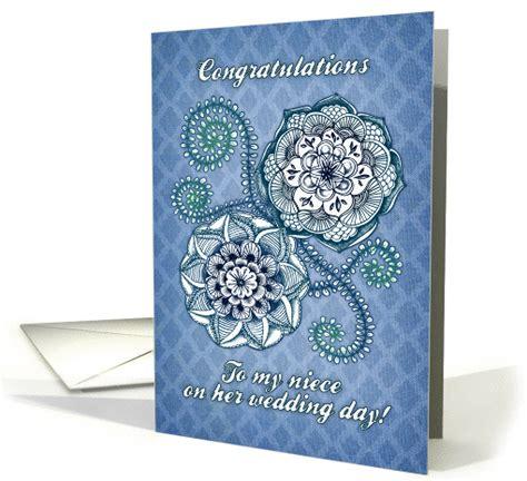 Wedding Congratulations Niece by Congratulations To My Niece On Wedding Day Blue