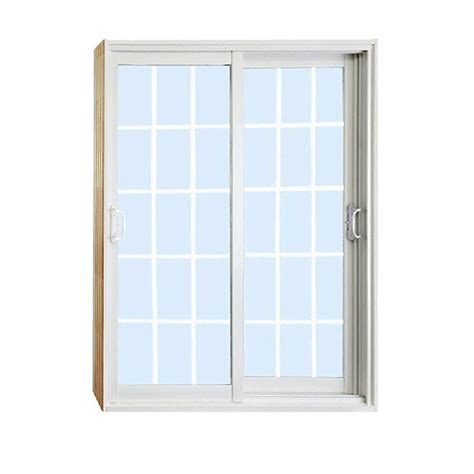 Sliding Patio Doors Home Depot Stanley Doors 72 In X 80 In Sliding Patio Door With 15 Lite White Flat Grill