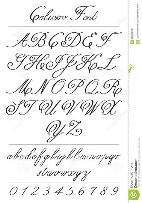 Letras Elegantes Da Caligrafia Com Florishes Fonte De