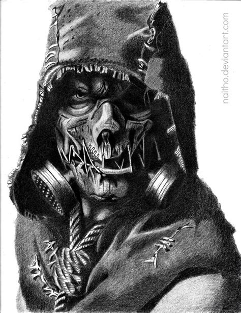 scarecrow arkham knight by naitho on deviantart