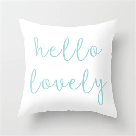 Cushion Cover Sarung Bantal Hello Blue hello lovely pillow decorative pillows pillow