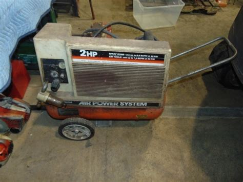 montgomery ward air power systems 2 hp air compressor grc febuary consingnments k bid