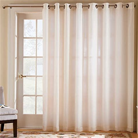 Sheer Patio Door Curtains Thermavoile Grommet Top Patio Door One 104 Quot X84 Quot Panel Contemporary Curtains By