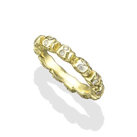s gold infinity skull ring