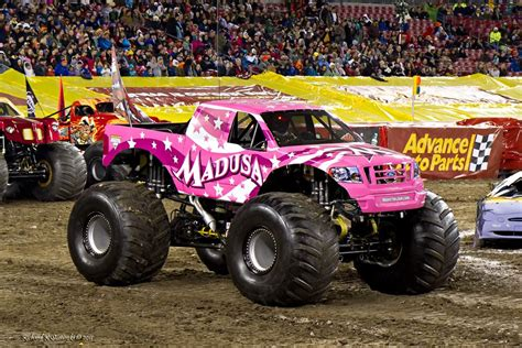 monster jam madusa pin wheels poster 2011 open preorder diecast world on