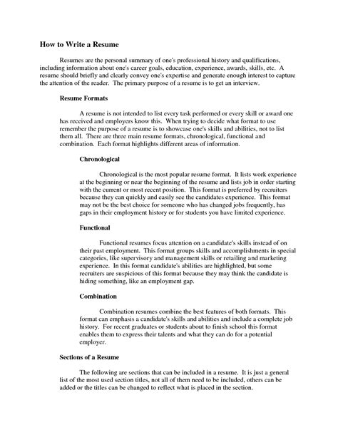 how to write a summary for a resume writing a resume summary writing
