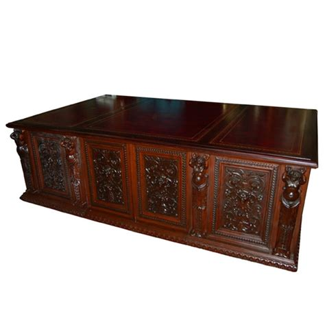 Antique Executive Desk by Figural Carved Executive Desk For Sale Antiques