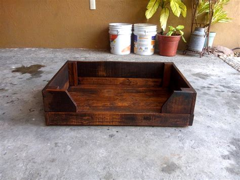 diy wooden dog bed diy wood pallet dog bed
