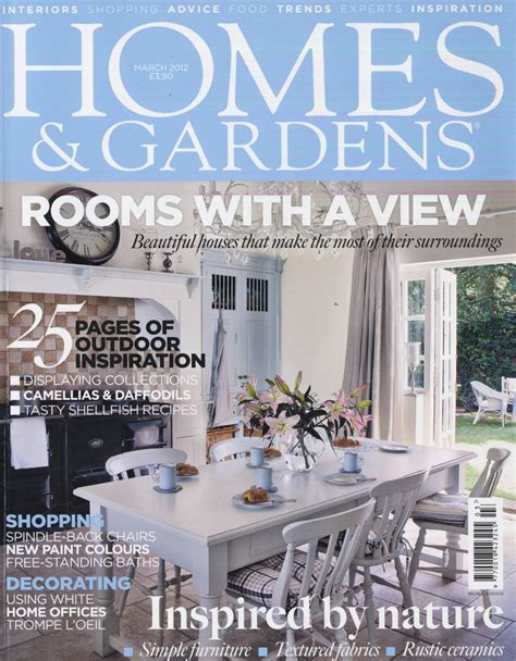 Home And Garden Company Homes And Gardens March 2012 Front Cover Boeme Design