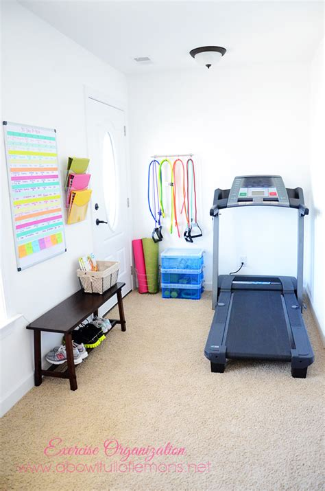 Small Home Workout Room Exercise Room Organization A Bowl Of Lemons
