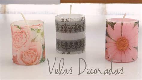 decoracion de velas  servilletas youtube