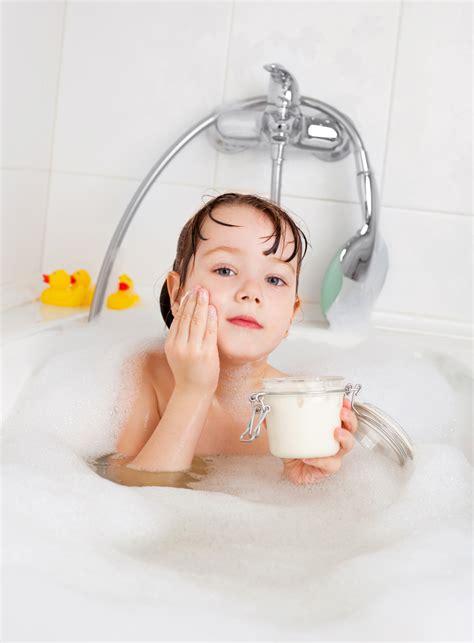 girl bathing in bathroom images bathing oils for eczema bamboo bubby